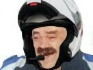 Sticker policier gilbert casque police