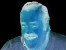 Sticker negatif bleu