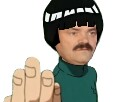 Sticker lee rock lee risitas lee