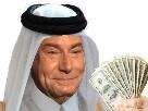 Sticker jesus arabe argent qatari