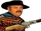 Sticker risitas western cowboy winchester