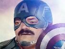 Sticker risitas captain america