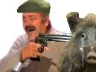 Sticker risitas mouton flingue pistolet