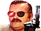 Sticker risitas terminator flingue pistolet