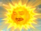 Sticker soleil teletubbies jaune