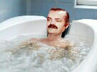 Sticker risitas blase baignoire