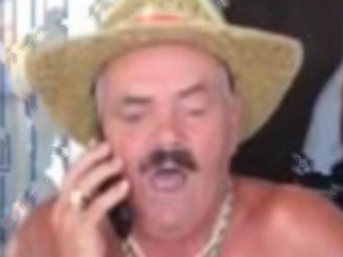 Sticker risitas allo telephone chapeau