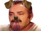 Sticker risitas en chien aw snapchat filtre langue