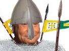 Sticker jesus issou normand normandie medievale moyen age lance chevalier
