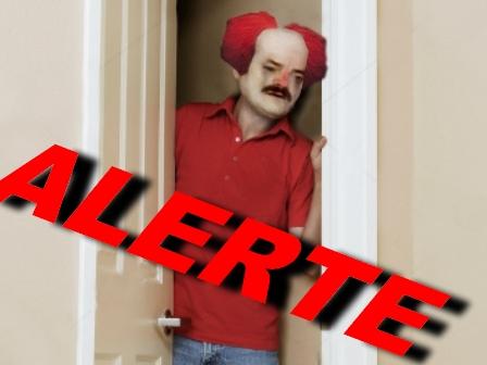 Sticker clown pedo alerte