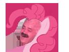 Sticker poney rose pinkie pie risitas issou rire