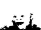 Sticker fantome cancer risitas peur noir blanc ghostfag creepy