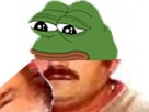Sticker pepe the frog risitas complot reptilien