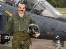 Sticker risitas avion aviateur f16 decolle