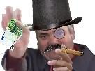 Sticker chapeau argent aristocrate aristo