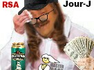 Sticker risitas femme sueur rsa biere argent femme lunettes