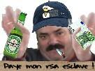 Sticker risitas rsa bye biere paye mon rsa esclave