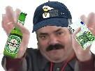 Sticker risitas rsa bye biere argent