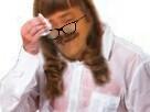 Sticker risitas femme lunettes sueur mouchoir