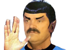 Sticker star trek spock salut vulcain