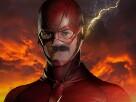 Sticker flash comics risitas super heros costume
