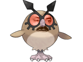 Sticker pokemon hoothoot risitas johto