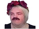 Sticker feministe fleur feminazi