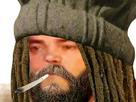 Sticker hippie drogue rasta reggae bonnet