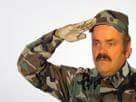 Sticker militaire rapport droit garde a vous