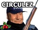 Sticker houx jesus complotiste gilbert police circulez