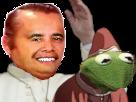 Sticker risitas moine pretre religion dieu punition kermit grenouille crapaud