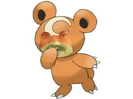 Sticker teddiursa pokemon johto risitas