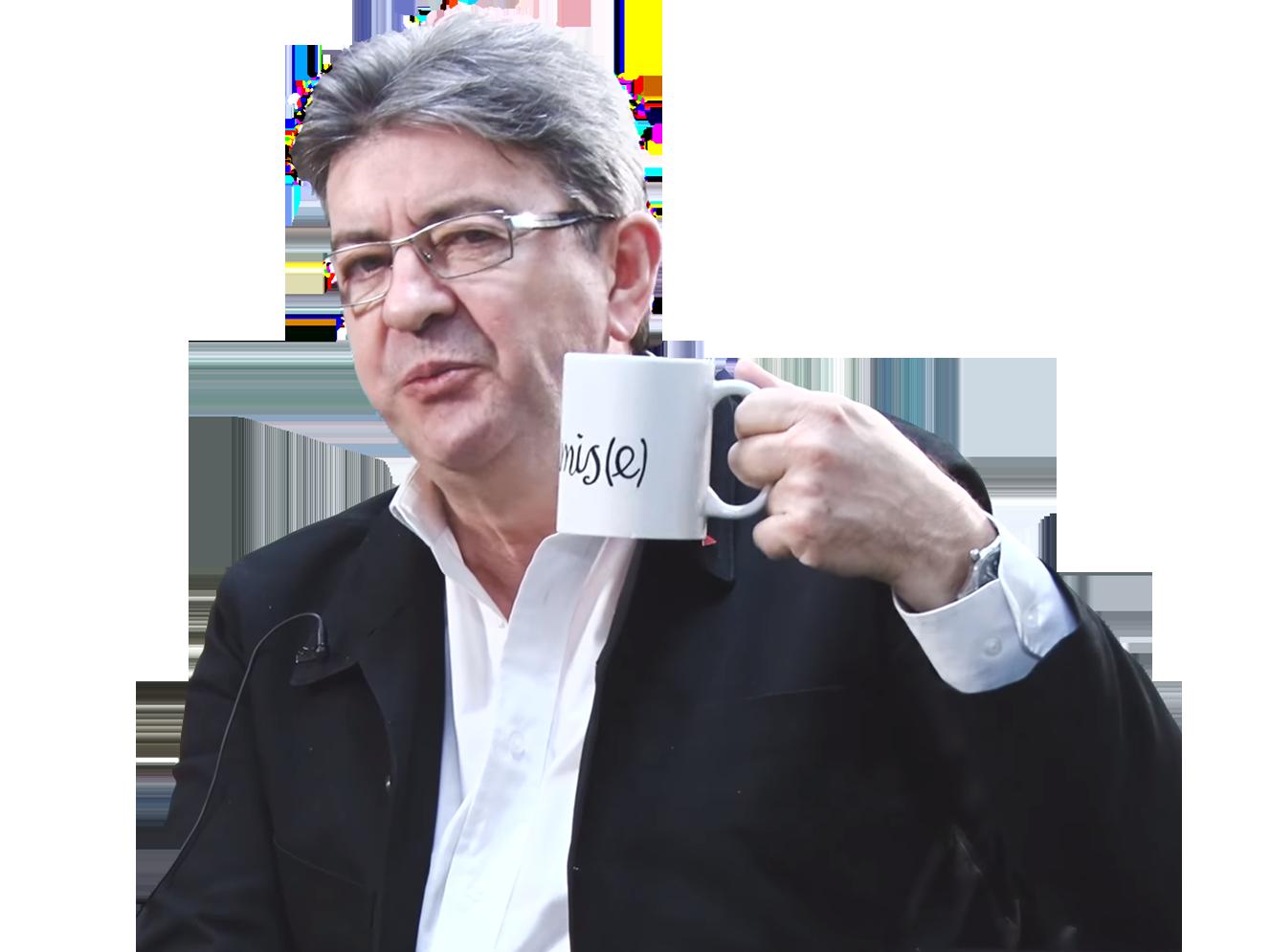 Sticker jean luc melenchon tasse insoumise