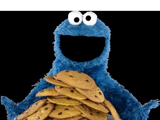 Sticker kermit cookie monster gros