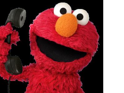 Sticker kermit elmo muppets telephone