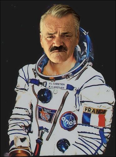 Sticker risitas astronaute spationaute espace