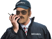 Sticker risitas securite security vigile surveillant gardien veilleur de nuit