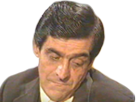 Sticker sournois triste emu choque monodent blase frere sourcils