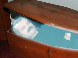 Sticker mort esprit chut cercueil fantome