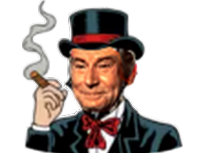 Sticker bridgely capitaliste argent droite finance money jesus cigare cigarette clope sans fond transparent