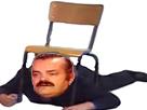 Sticker risitas victime chaise cache