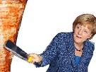 Sticker merkel doner kebab angela kebabier allemagne
