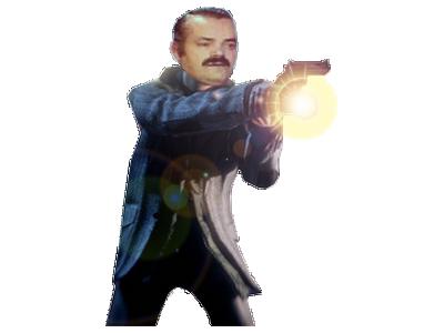 Sticker surveillant gardien veilleur vigile espion agent secret camping nuit flingue lampe torche lumiere chiotte