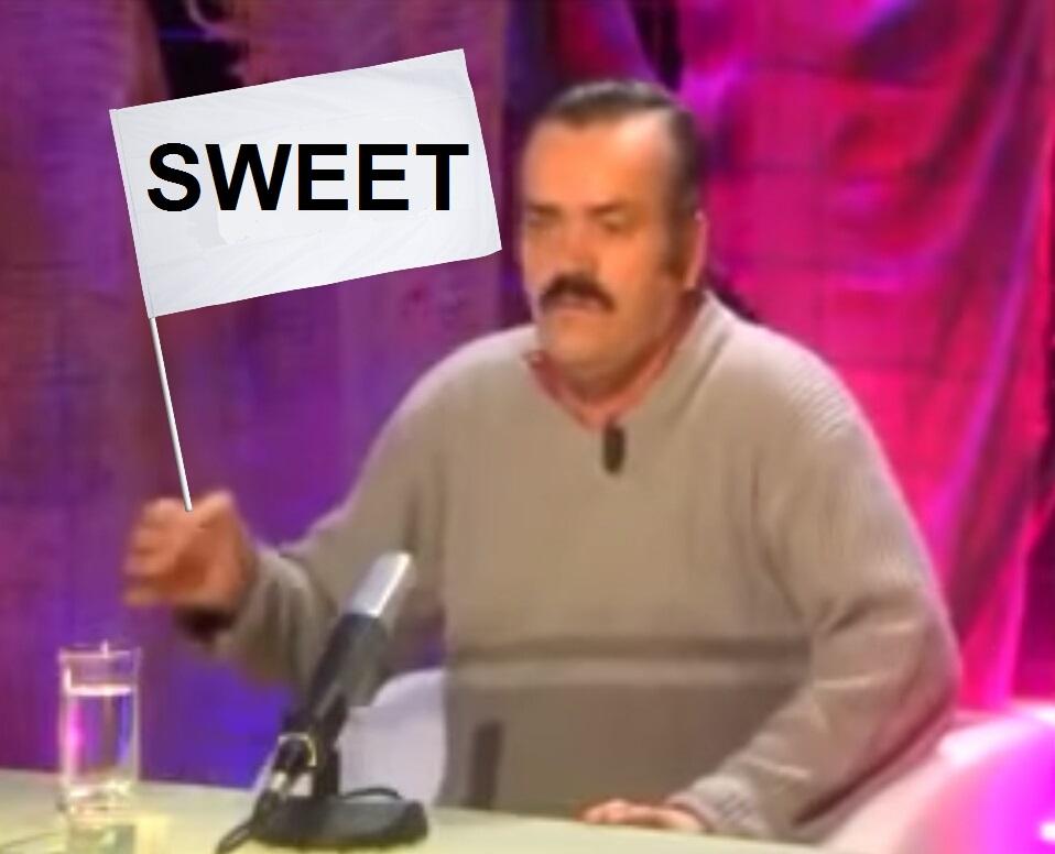Sticker sweet drapeau risitas panneau suite fic