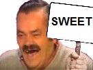 Sticker sweet drapeau risitas panneau suite fic rire