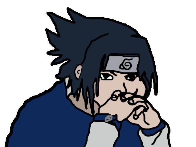 Sticker sasuke dark naruto dessin eco plus