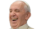 Sticker pape francois rire jesus christ moine chretien croise saint pretre religion dieu christianisme catho