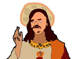Sticker risitas jesus religion eco eco dessin plus bible saint