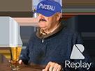 Sticker alcolique alcolo bierre bar casquette puceau