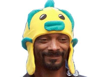 Sticker snoop dogg chapeau sourire troll